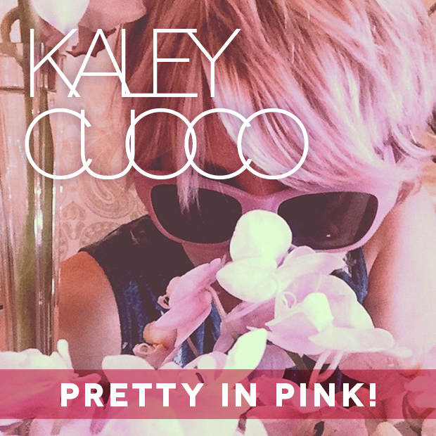 Kaley Cuoco Pretty In Pink Hair and Eyebrows