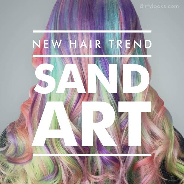 New Hair Trend; Sand Art Hair