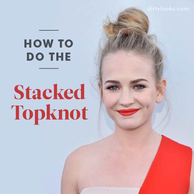 How to do the Stacked Topknot