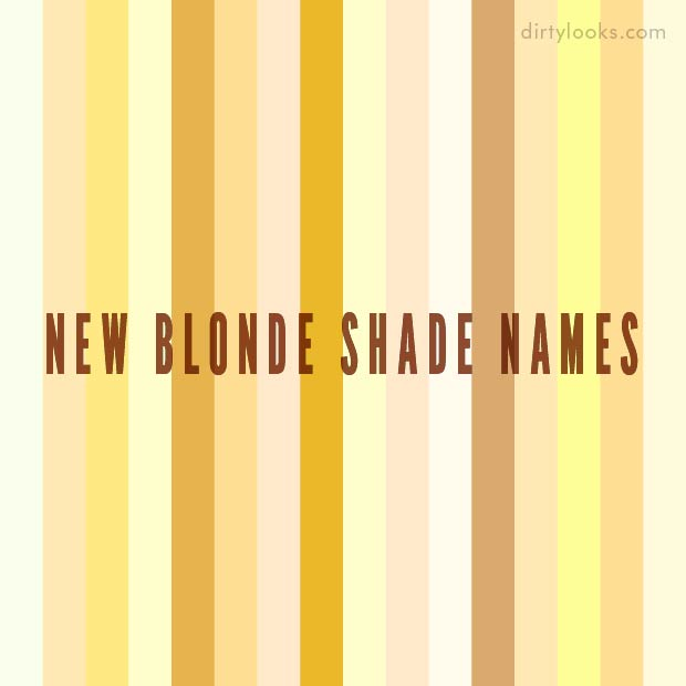 New Blonde Hair Extension Shade Names