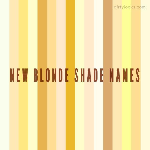 New Blonde Shade Names Hair Extensions Blog Hair Tutorials