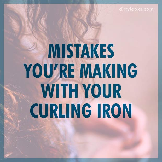 Mistakes You're Making With Your Curling Iron