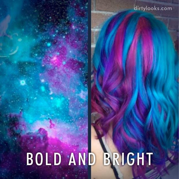 New Hair Trend Galaxy Hair Hair Extensions Blog Hair