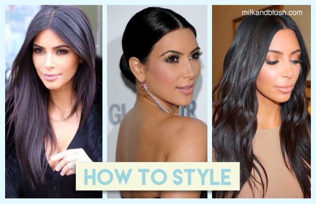 How To Get Hair Like Kim Kardashian Using