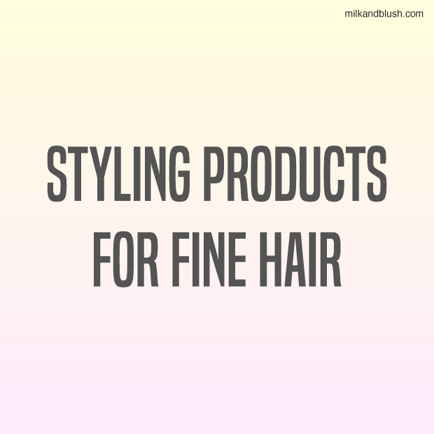 Styling Products For Fine Hair \/ Hair Extensions Blog