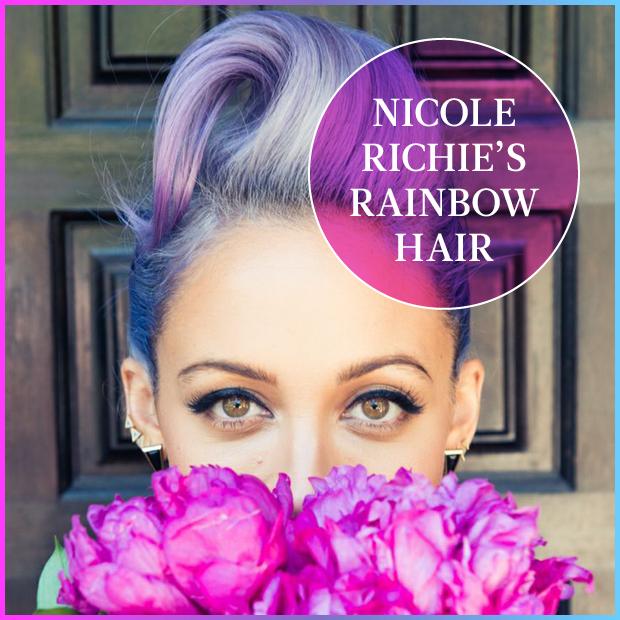 Nicole Richie Rainbow Hair