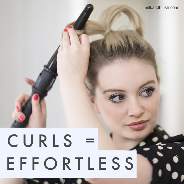 how to create loose waves with flat iron
