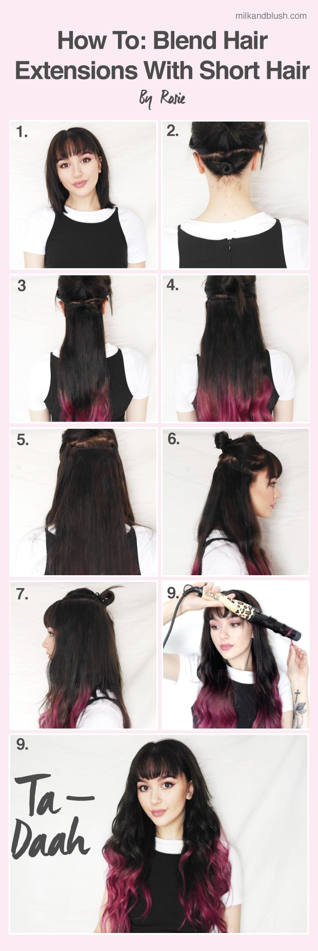 How To Blend Hair Extensions With Short Hair By Rosie