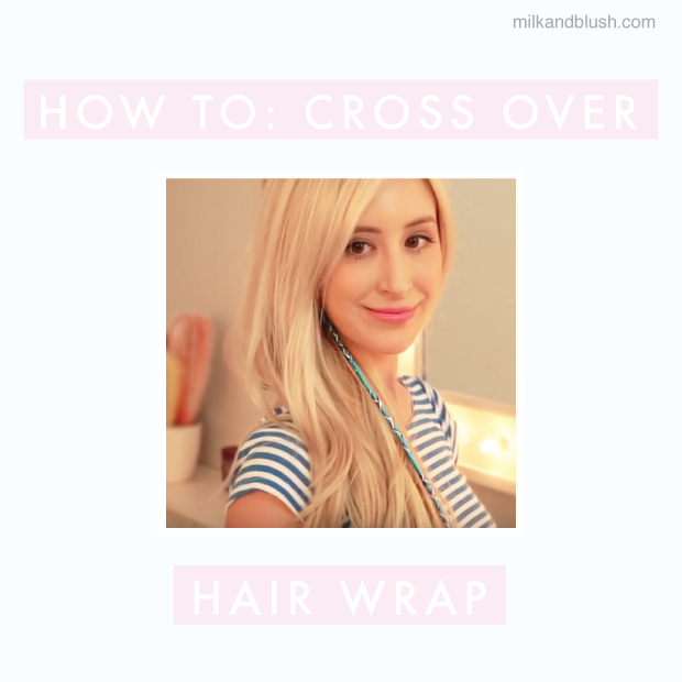 How To Cross Over Hair Wrap Hair Extensions Blog Hair Tutorials