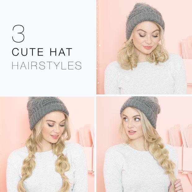 3 Cute Hat Hairstyles Hair Extensions Blog Hair Tutorials Hair