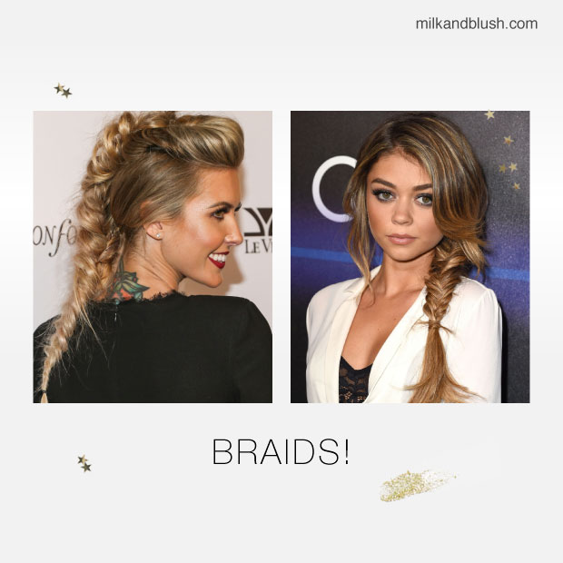 desk to party hairstyles braids
