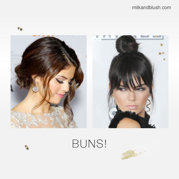 desk to party hairstyles buns