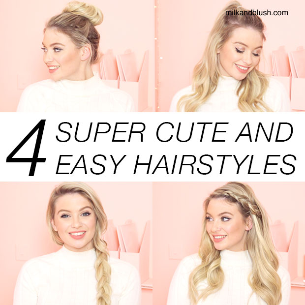 4 Super Cute and Easy Hairstyles / Hair Extensions Blog | Hair ...