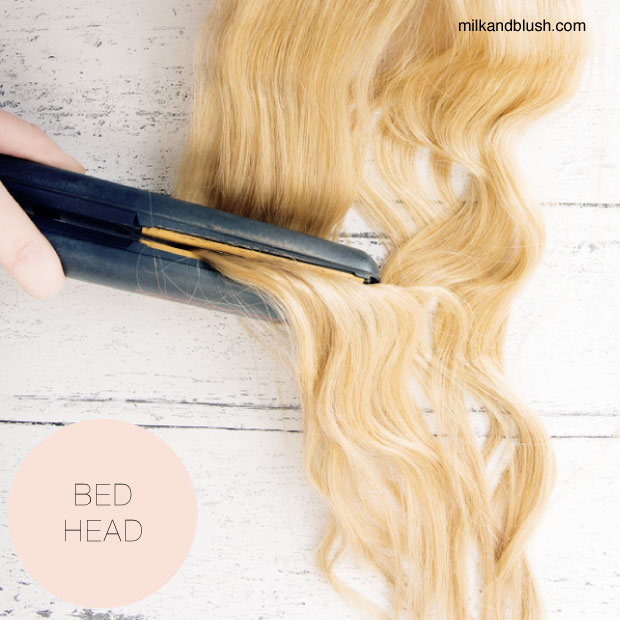 how to create wavy hair with straighteners
