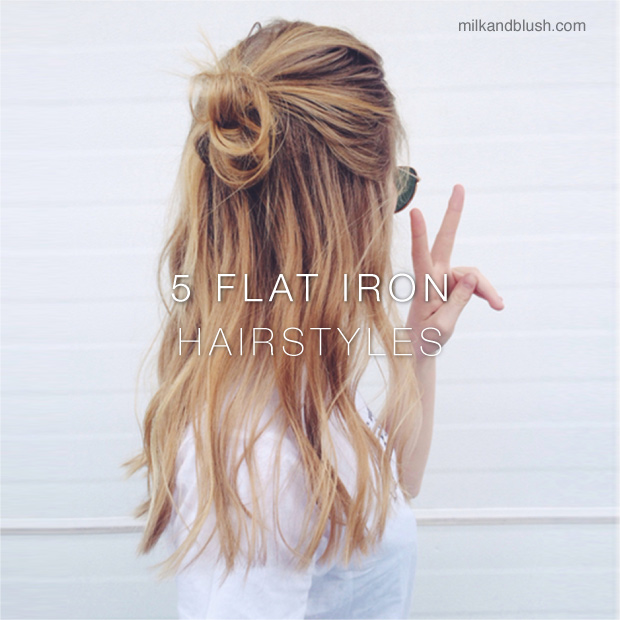5 Flat Iron Hairstyles Hair Extensions Blog