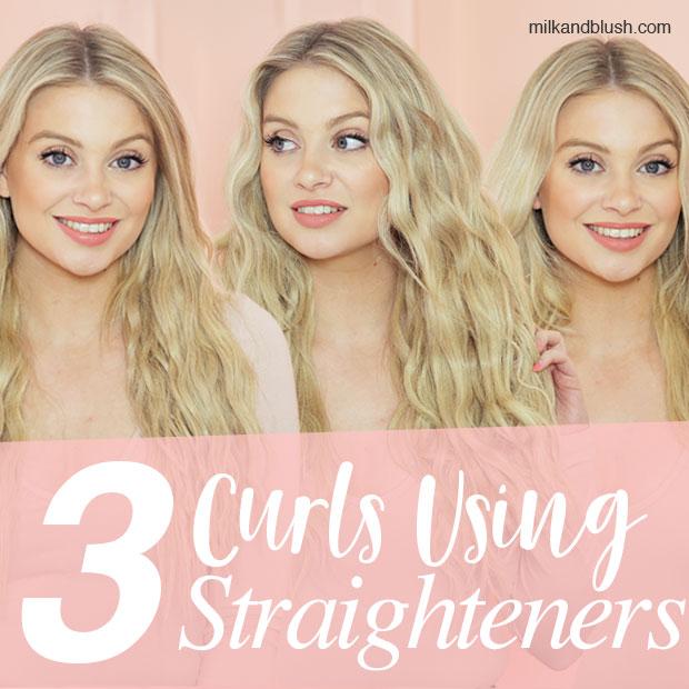 3-curls-using-hair-straighteners