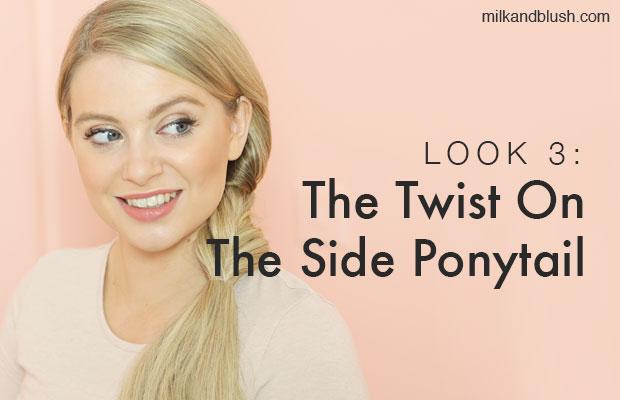 side ponytail milk + blush