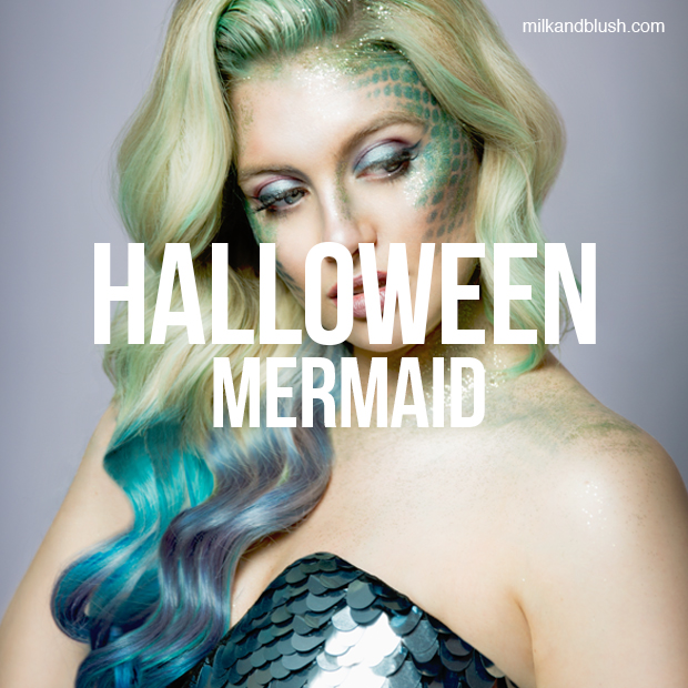 halloween mermaid milk + blush