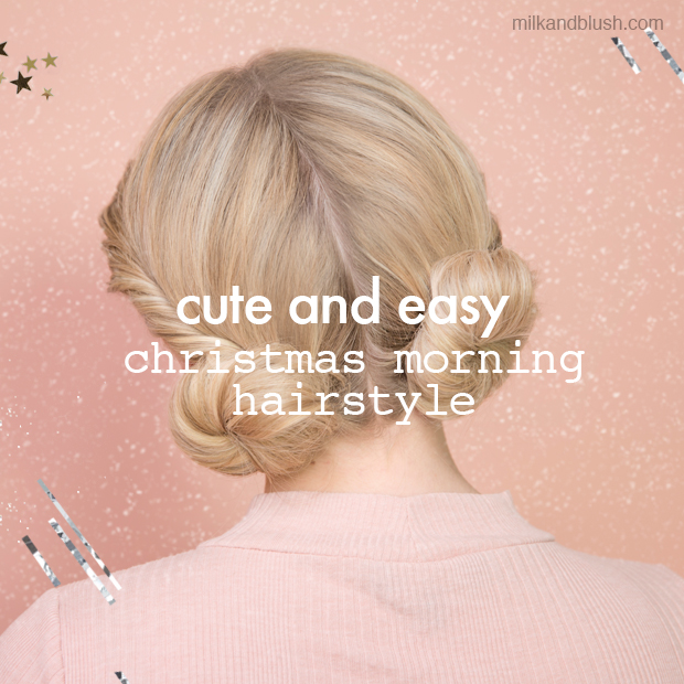 milk and blush christmas hairstyle