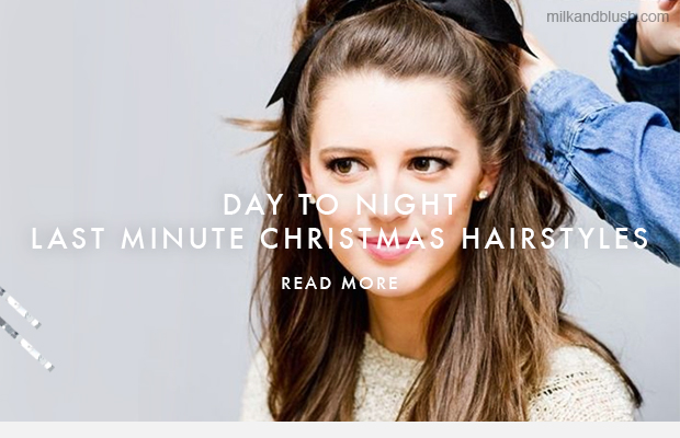 Day to night 5 last minute christmas day hairstyles hair your hair is the last thing you want to care about on christmas day so you need a long lasting style that will go with your best dress or even your best pmusecretfo Choice Image