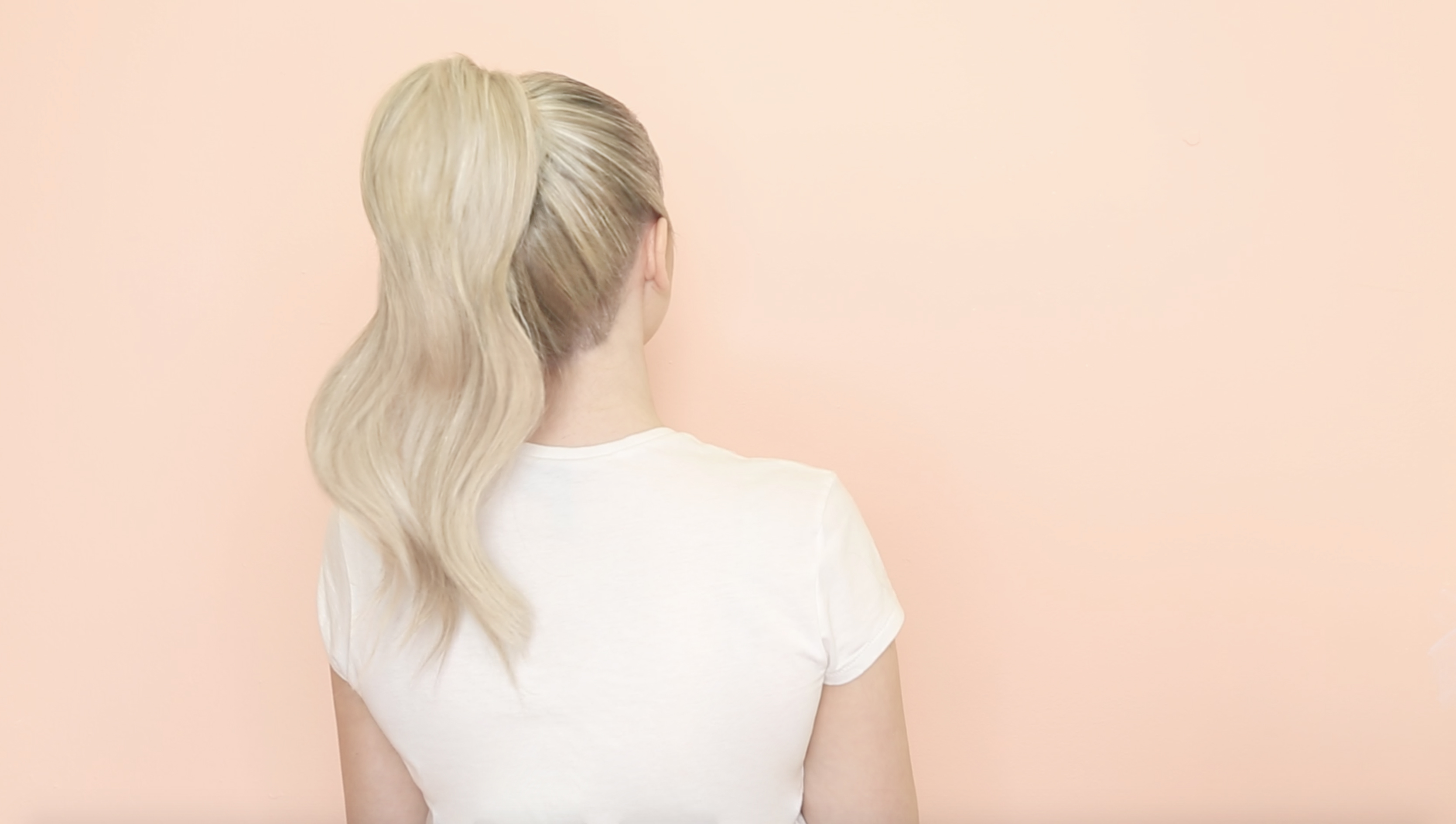 how to ponytail with milk + blush hair extensions