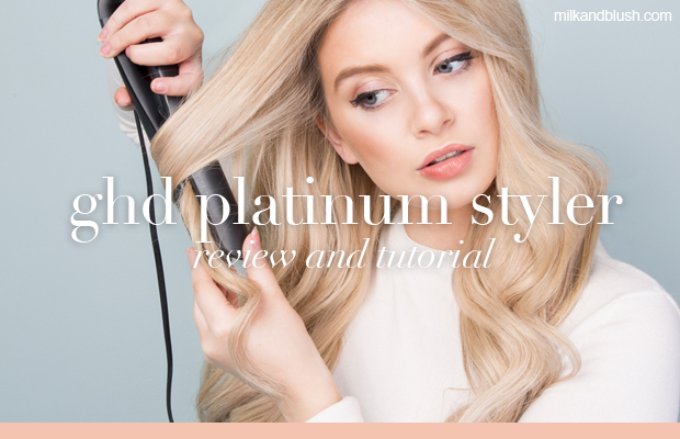 ghd platinum styler review and how to curl your hair with a straightener