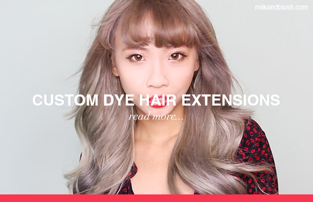 how to dye hair extensions milk and blush