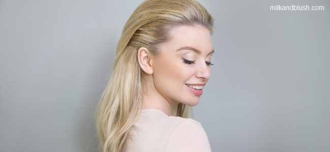 swept-back-quick-and-easy-short-heatless-hairstyles-milk-and-blush-hair-extensions-blog