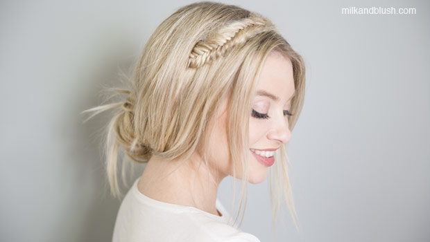 braided-halo-bun-medium-heatless-hairstyles-milk-and-blush-hair-extensions-blog